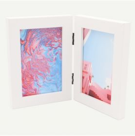 "4x6 White MDF 7/8"" Double Frame for Two 4x6 Pictures"