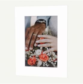 12x16 Pre-cut Mat with Whitecore fits 8x12 Picture