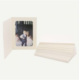 Pack of 50, Ivory Photo Folder for4x6 or 5x7 Picture