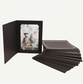 Pack of 50, Black Photo Folder for 4x6 or 5x7 Picture