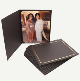 Pack of 25, Black Photo Folder for 8x10 or 6x8 Picture