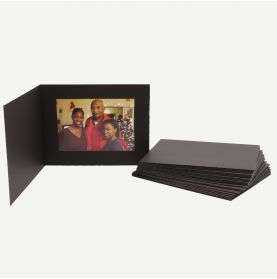 Pack of 25, Black Photo Folder for 7x5 Picture