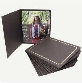 Pack of 50, Black Photo Folder for 8x10 or 6x8 Picture