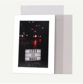 Pack of 200, 5x7 Pre-cut Mat with Blackcore fits 4x6 Picture + White Foam Board + Bags.