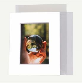 8x10 Pre-cut 8 PLY Mat with Whitecore fits 5x7 Picture + Backing + Bag