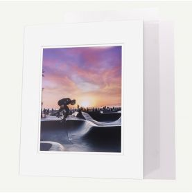 Pack of 100, 16x20 Pre-cut Double Mat with Whitecore fits 11x14 Picture + Backing + Bags.