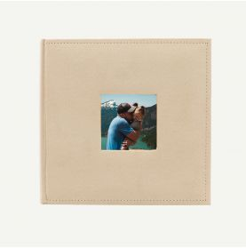 Suede Beige Photo Album for 200 4x6 Pictures
