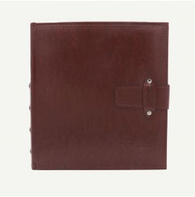 Faux Leather Maroon Photo Album with Strap Closure for 200 5x7 Pictures