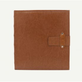 Faux Leather Brown Photo Album with Strap Closure for 200 5x7 Pictures