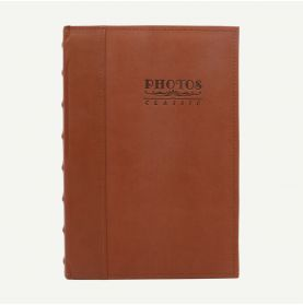 Faux Leather Brown Photo Album for 300 4x6 Pictures