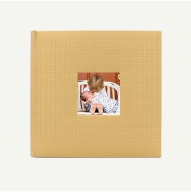 Faux Leather Gold Geometric Photo Album for 200 4x6 Pictures