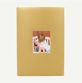 Faux Leather Gold Geometric Photo Album for 300 4x6 Pictures