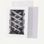 5x7 Pre-cut Mat with Whitecore fits 4x6 Picture + White Foam Board + Bags
