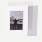 Pack of 25, 8x10 Pre-cut Double Mat with Whitecore fits 5x7 Picture + Backing + Bags