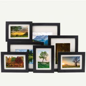 "Gallery Wall Set of 7 Black MDF 7/8"" Frames"