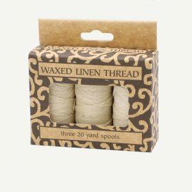 Lineco Natural Color Waxed Linen Thread