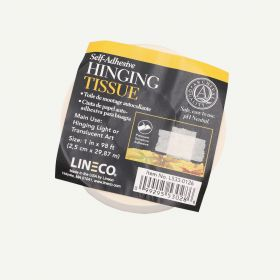 "Lineco Self-Adhesive Mounting Hinging Tissue, 1"" x 98'"