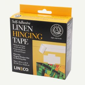Lineco Self Adhesive White Linen Hinging Tape 1.25 in. x 35 ft.