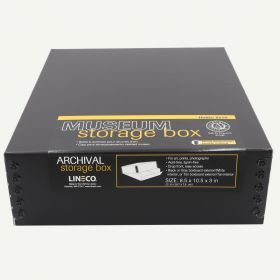 Lineco Museum Storage Box Black 8.5x10.5x3 In