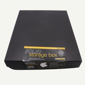 Lineco 11x14 Black Clamshell Archival Folio Storage Box