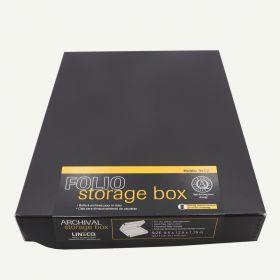 Lineco Archival Folio Box Black 9.5x12.5x1.75 inches