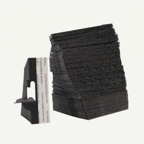 Single Wing 3 Inch Black Self-Stick Easel Back, Pack of 50.