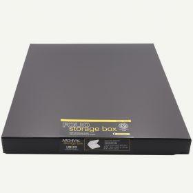 Lineco 16x20 Black Archival Clamshell Folio Storage Box