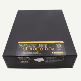Lineco Museum Storage Box Black 9.5x12x3 Inches