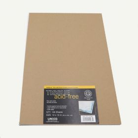 Lineco Buffered 10x15 White Acid-Free Interleaving Tissue Paper. Pack of 100.