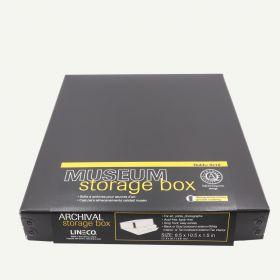 """Lineco Black Archival 8x10"""" Print Storage Box, 8 1/2"""" x 10 1/2"""" x 1 1/2"""""""