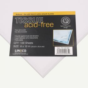 Lineco 8x10 Buffered Acid-Free Interleaving Tissue. Pack of 100.