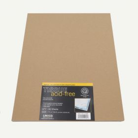 Lineco 11x14 Buffered Acid-Free Interleaving Tissue. Pack of 100.