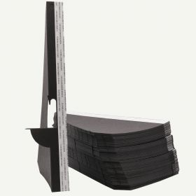Single Wing 12 Inch Black Self-Stick Easel Back, Pack of 25.