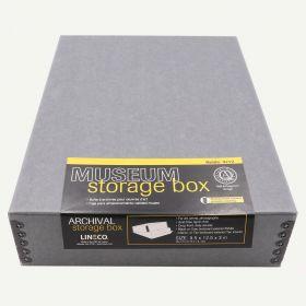Lineco 9x12 Blue/Gray Museum Storage Box