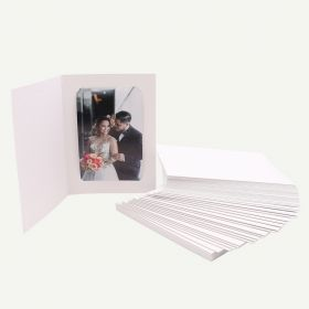 Pack of 50, White Photo Folder for4x6 or 5x7 Picture
