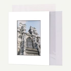 8x10 Pre-cut Mat with Blackcore fits 5x7 Picture + Backing + Bag