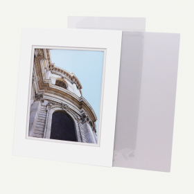 11x14 Double Mat with Whitecore fits 8x10 Picture + Backing + Bags