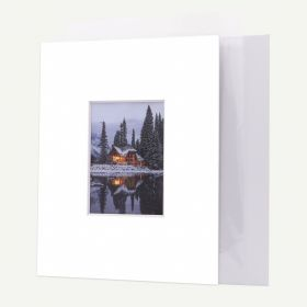 Pack of 50, 11x14 Pre-cut 8-PLY Mat with Whitecore fits 5x7 Picture + Backing + Bags.