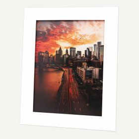 Pack of 100, 16x20 Pre-cut Mat with Whitecore fits 12x16 Picture