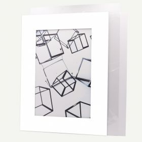 Pack of 10, 18x24 Pre-cut Mat with Whitecore fits 12x18 Picture + White Foam Board + Bags.