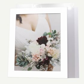 Pack of 10, 20x24 Pre-cut Mat with Whitecore fits 16x20 Picture + White Foam Board + Bags.