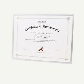 """8.5x11 Silver Aluminum 1/4"""" Diploma Frame for 8.5x11 Picture"""