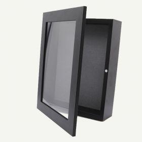 """8x10.5 Black MDF 1 1/4"""" Shadow Box Frame"""