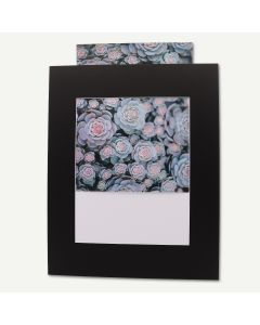 Pack of 25, Black 16x20 Slip-In Mats with Whitecore fits 11x14 Picture + Bags