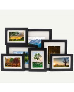 "Gallery Wall Set of 7 Black MDF 7/8"" Frames"