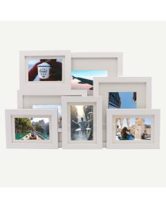 "Gallery Wall Set of 7 White MDF 7/8"" Frames"