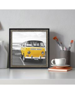 8x8 Black/Brown MDF Frame for 8x8 Picture, Set of 2