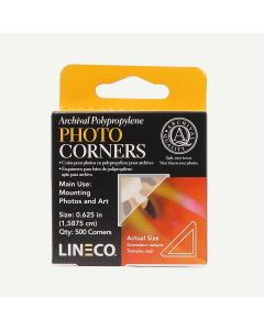 Lineco Infinity Archival Clear Photo Corners. Pack of 500.