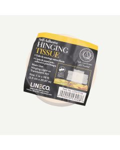 "Lineco Self-Adhesive Mounting Hinging Tissue, 1"" x 98'"