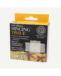 Lineco Self-Adhesive Mounting/Hinging Tissue 1 inch x 35 feet Dispenser Box